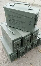Danish M19A1 Ammo Box Tins Cases 7.62 Small Arms Cartridges 5.56 Denmark ( H84 )