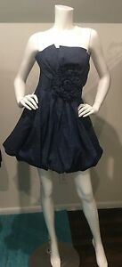 New With Tags Romeo and Juliet Couture Denim Bubble Dress