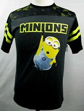 Minions Bob Despicable Me Black Jersey T Shirt Licensed Boy's XXL (18)