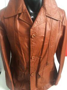 Vintage Leather Men's  Jacket Free Postage