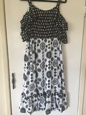 Taking Shape 14 Bohemia Print Short Slve Cold Shoulder Knee Length Dress NWTGS