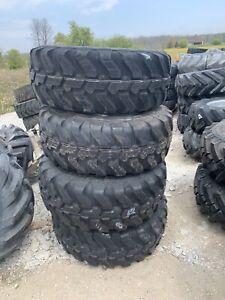 405/70r20 tires and rims Mitas Wacker WL52 WL60 Gehl 650 750 6 Lug Set Of 4 Néw