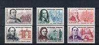 France 6 timbres non oblitérés gomme**  15  Célébrités