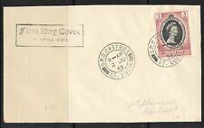 UK  St Lucia Old FDC Cover Elizabeth II Coronation 1953