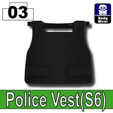 Black S6 Tactical Vest for LEGO army military brick minifigures