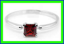 Sterling Silver Birth Month Cubic Zirconia January Child Ring Sz 3