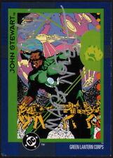 Martin Nodell & Cully Hamner SIGNED Green Lantern John Stewart 1993 DC Art Card