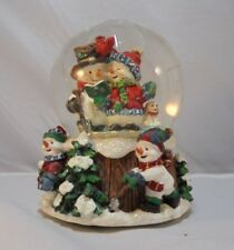 100mm Wind-up Musical Snow Globe with Snowman Carolers
