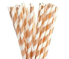 Rose Gold Paper Straws Pack of 8 for Wedding Engagement Birthday Party Baby Show