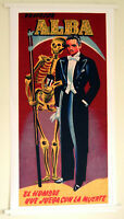 Hi-Q Repro Poster 1959 Prof Alba Magician~The Man that Plays with Death 36 x18""