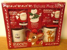 RUDOLPH RED-NOSED REINDEER coffee mug gift set Christmas TV Rankin-Bass 2010