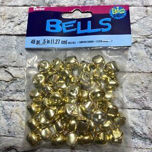 """Darice 48 Gold Jingle Bells .5"""""""