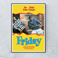 Friday Comedy Film Movie Ice Cube Chris Tucker Glossy Print Wall A4 Poster