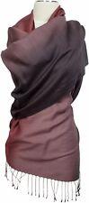 Schal Braun Wolle Seide scarf wool silk Farbverlauf Ombre Kupfer Brown Cupper