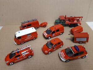 Lot voitures & camions de pompiers SOLIDO NOREV & divers 1.43