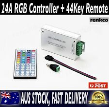 12V 24A (288W) RGB Controller + 44 Key Remote for RGB 3528 5050 LED Strip Lights