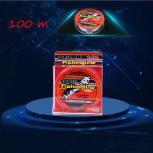 100M Super Strong 100% Fluorocarbon Monofilament Nylon PA Fishing Line 0.8-6LB^^