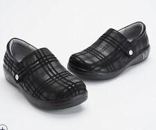 Alegria Slip On Shoes EU 38 US 8 8.5 8 1/2 Kara Black Plaid Comfort Work