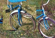 2 White Western Flyer Buzz Bike Muscle Bike Bicycle FORK DART DECAL STICKER
