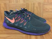c25b27e309682 RARE🔥 Nike Free 5.0 2014 Magnet Gray Bright Mango Hyper Grape Sz 8.5 642199 -
