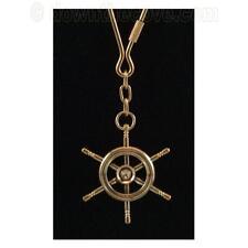 Nautical Brass Keyring / Brass Ships Wheel Key Fob - Free 1st Class Post!
