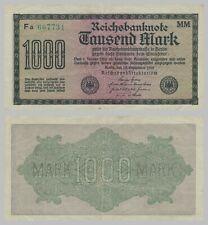 Deutsches Reich 1000 Mark 1922 Ro75a s-ss / f-vf