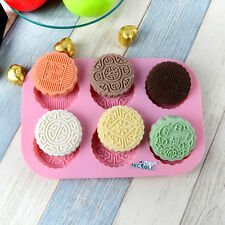 Silicone Mould Soap Mooncake Chocolate Candy DIY Baking Tools Resin Clay Molds