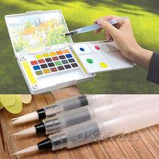 3 Pcs Water Brush Watercolor Art Paint Brush Nylon Hair Painting Calligraphy Pen