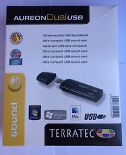 Terratec Aureon Dual USB Sound Card for PC,Notebook & NAS inc Free Optical cable