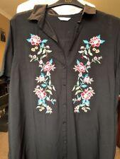 Papaya Size 26 Floral Embroidered Tunic Shirt Dress