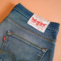 Levi 504 Jeans Straight Leg Zip Fly Blue Vintage Men's (LabelW34L34) W 34 L 33