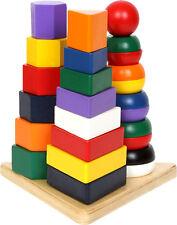 Pyramide 3 in 1 Motorikförderung für die Kleinsten ab 1 Jahr Farben und Formen