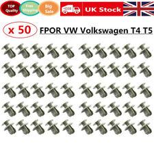 For VW TRANSPORTER T4 T5 LONGER LONG TRIM PANEL CLIPS GREY VAN CARPET LINING 50