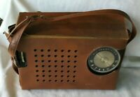 *Vintage GENERAL ELECTRIC Transistor Radio P-807J black gold w Case *UNTESTED*