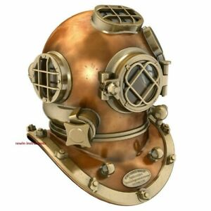 Antique Nautical US Navy Mark V Scuba Diving Divers Helmet Replica