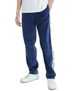 Tommy Hilfiger Denim Men's Navy Teagan Velvet Logo Taped Jogger Pants $99