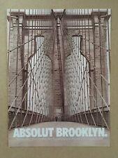 """1998 ABSOLUT VODKA """"ABSOLUT BROOKLYN."""" Original Print Ad, 7 7/8""""x10 1/2"""""""