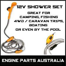 12 V VOLT PORTABLE CAMP SHOWER WATER PUMP CARAVAN CAMPING BOAT 4WD RV