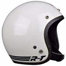 VTG ORIGINAL '81 BELL RT MAGNUM TOPTEX MOTORCYCLE CAR RACING WHITE HELMET 7