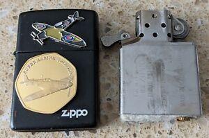 Original Zippo Black Lighter - Customised for the WW2 Supermarine Spitfire -used