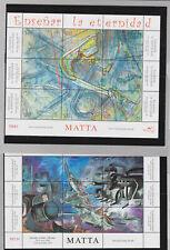 chile 2008 paintings,Matta..four sheets,MNH      q1536
