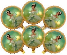 (6) Pc Princess and the Frog Tiana Balloons Party Birthday Supplies