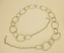 *60S INSPIRED NECKLACE SMALL SIZE BELT MAX SIZE 28 INCHES BEATEN SILVER RINGS