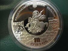 Ukraine Silver coin 10 UAH 2012: 1800 Years of Sudak Crimea St. George