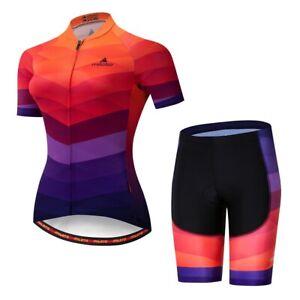 Women Cycling Jersey Set COOLMAX MTB Bike Clothing Set Size 3XL Chest 45.6''