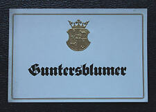 Guntersblum`er Weinetikett, Winlabel ca. 1940