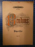 Brahms Duette Edition Peters No.1425 Opus 28 Noten B26536