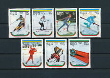 Cambodia  946-52 MNH, Winter Olympics Albertville, 1989