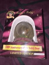100th ANNIVERSARY OF THE TEDDY BEAR THEODORE ROOSEVELT Globe In Box