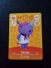 [026 Renee] Animal Crossing New Leaf/Happy Home Designer Amiibo Cards, NA/US!